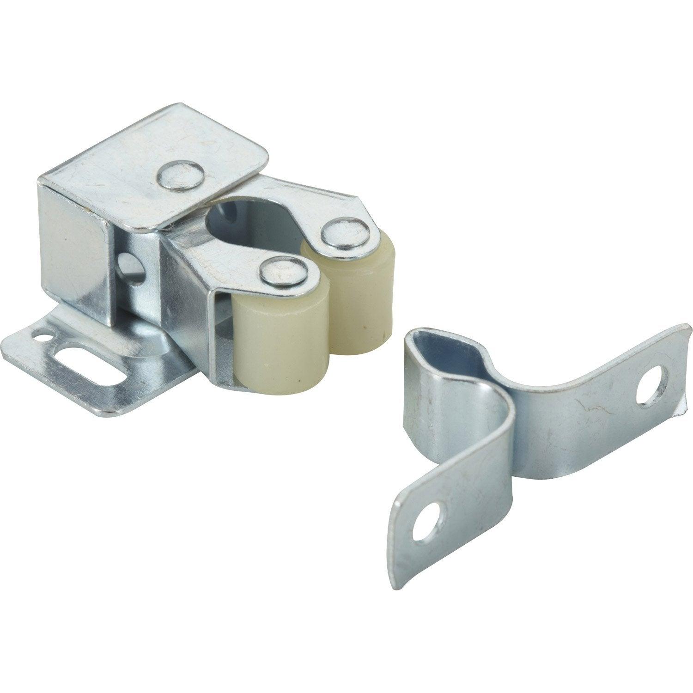 Lot de 2 loqueteaux pression acier hettich x mm leroy merlin - Leroy merlin escalier escamotable ...