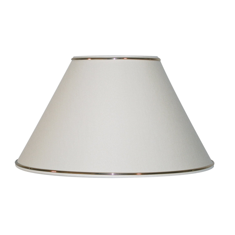 abat jour sweet 20 cm percale ivoire leroy merlin. Black Bedroom Furniture Sets. Home Design Ideas