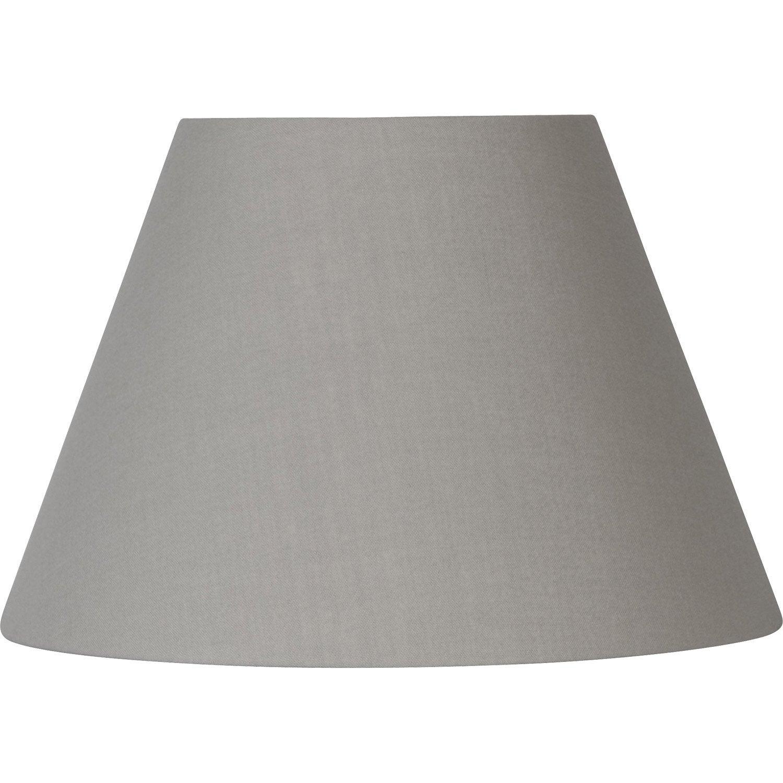 abat jour sweet 14 cm coton ciment leroy merlin. Black Bedroom Furniture Sets. Home Design Ideas