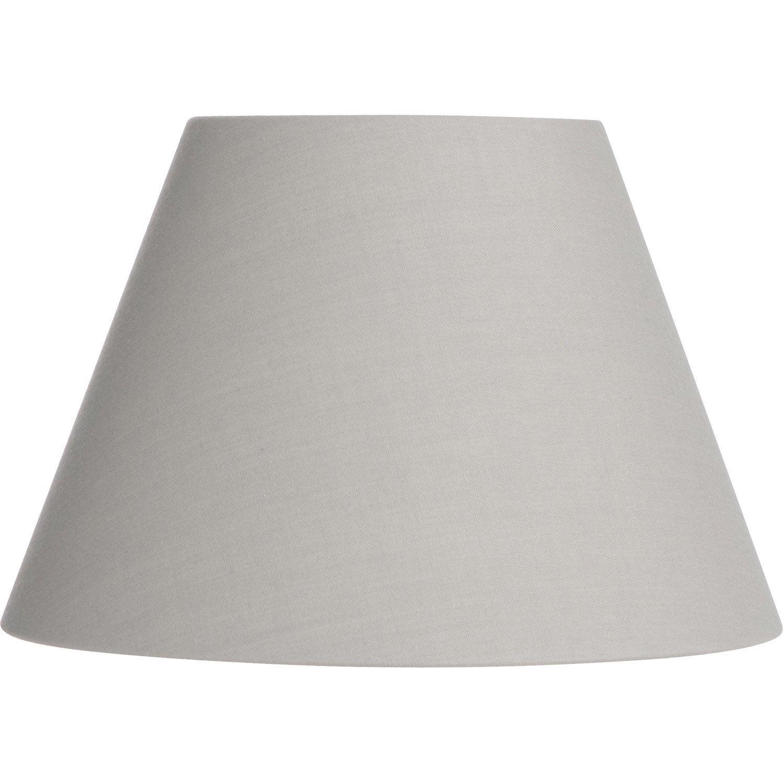 abat jour sweet 19 cm coton ciment leroy merlin. Black Bedroom Furniture Sets. Home Design Ideas