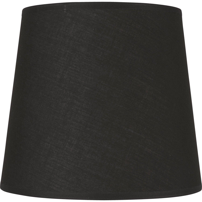 abat jour conique 14 cm coton noir noir n 0 inspire leroy merlin. Black Bedroom Furniture Sets. Home Design Ideas