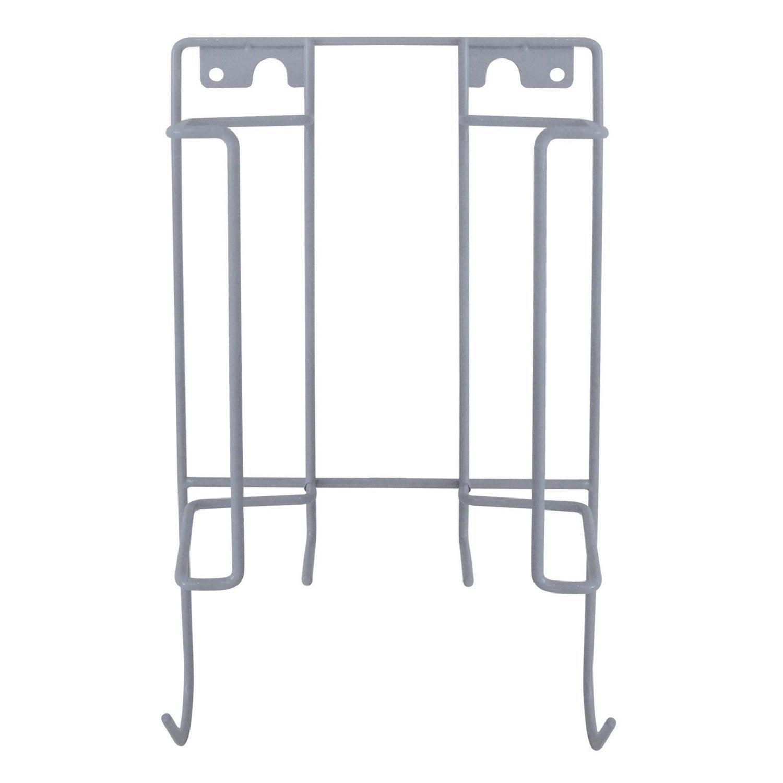 Porte table et fer repasser gris x x p 9 cm for Porte assiette mural leroy merlin