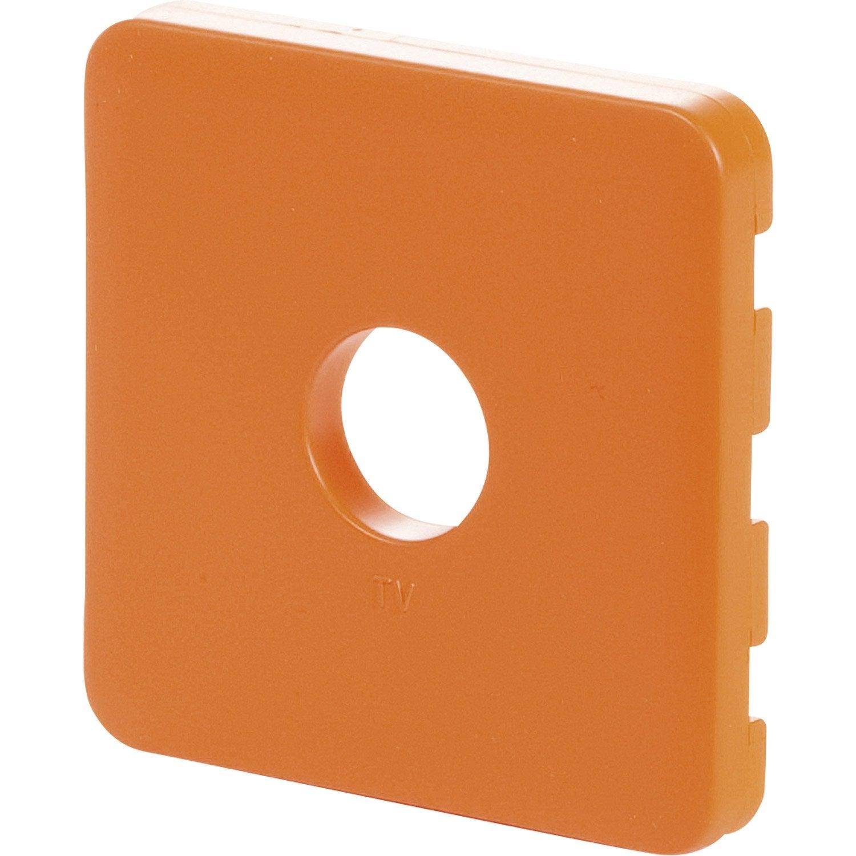 cache prise tv prise tv type f cosy lexman orange tangerine n 3 mat leroy merlin. Black Bedroom Furniture Sets. Home Design Ideas
