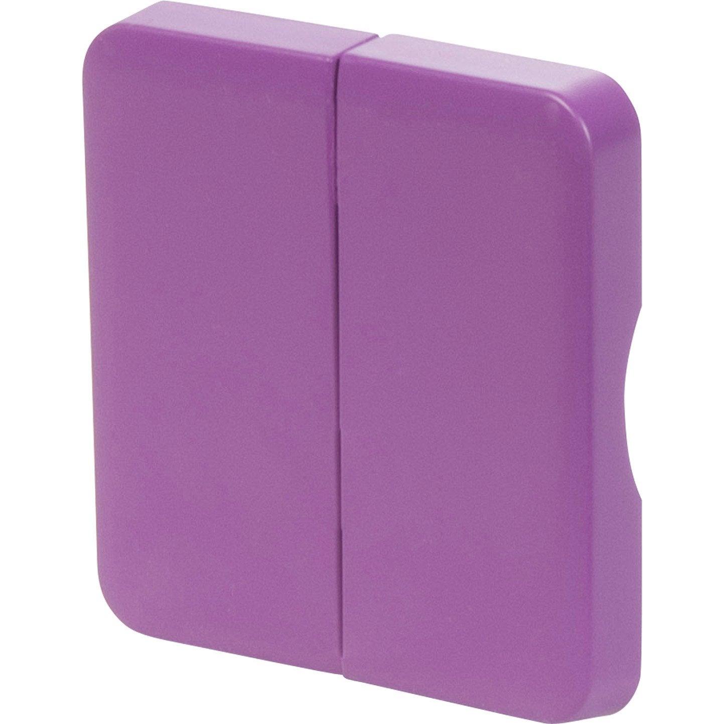 Cache commande d 39 clairage double cosy lexman violet - Leroy merlin commande ...