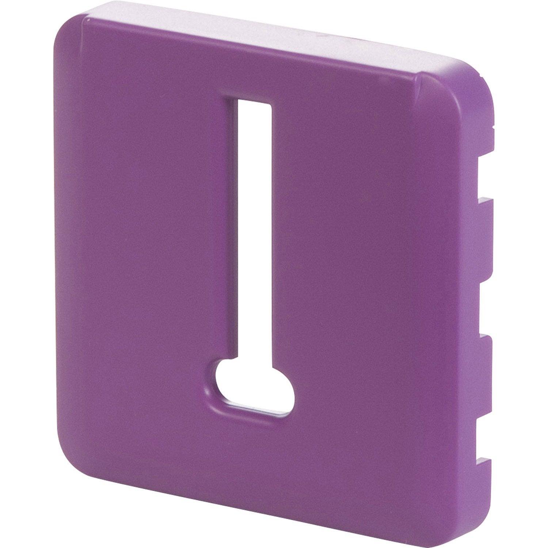 cache pour prise t l phone lexman violet tulipe n 3. Black Bedroom Furniture Sets. Home Design Ideas