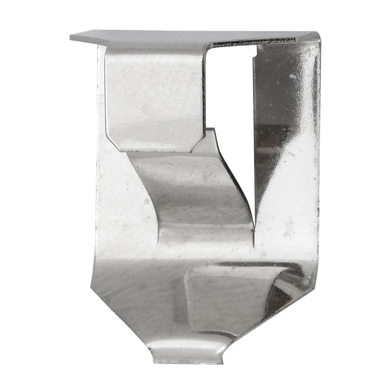 lot de 6 pinces clip 3 6 mm pour sous verre le crochet francais x mm leroy merlin. Black Bedroom Furniture Sets. Home Design Ideas