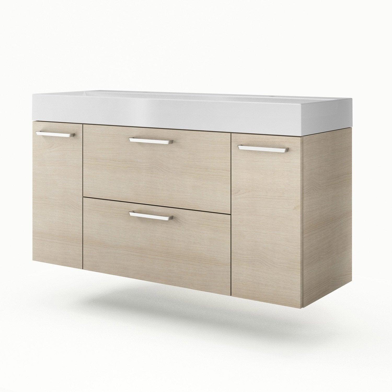 meuble vasque 135 cm neo line leroy merlin. Black Bedroom Furniture Sets. Home Design Ideas