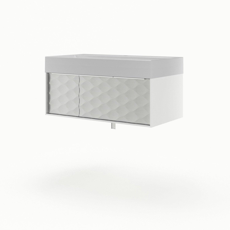 meuble vasque 90 cm blanc neo frame leroy merlin. Black Bedroom Furniture Sets. Home Design Ideas