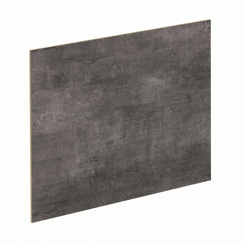 Cr dence stratifi urban gris steel noir cm x for Credence aluminium