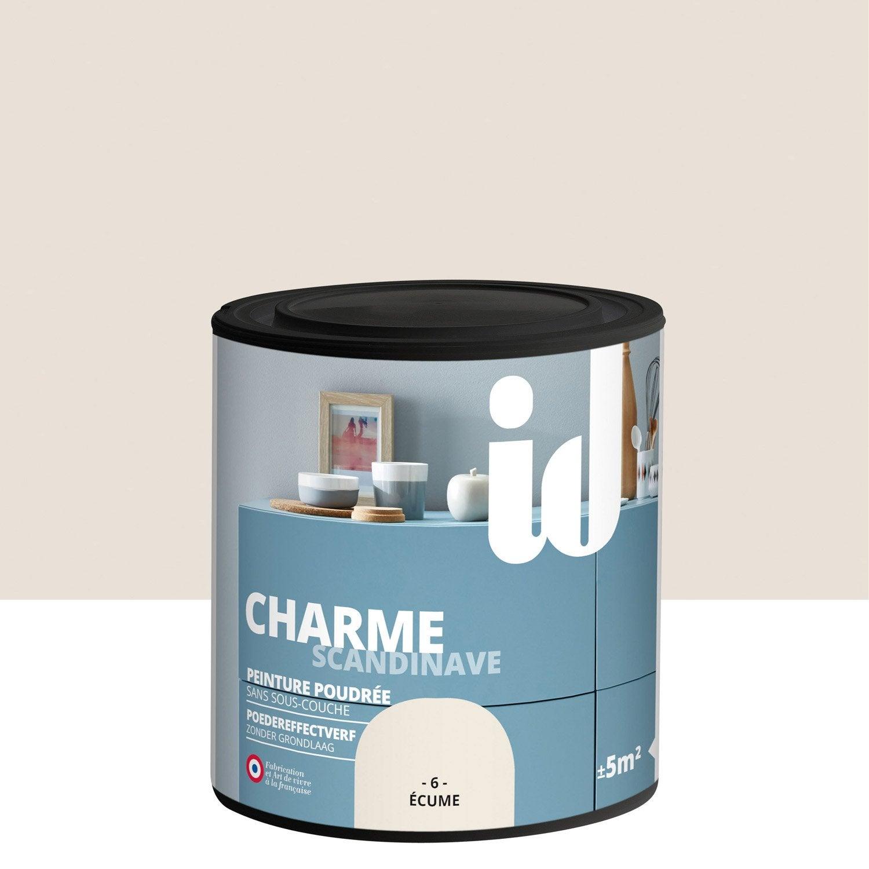 Peinture pour meuble objet et porte poudr id charme ecume 0 5l leroy merlin for Peinture meuble bois leroy merlin