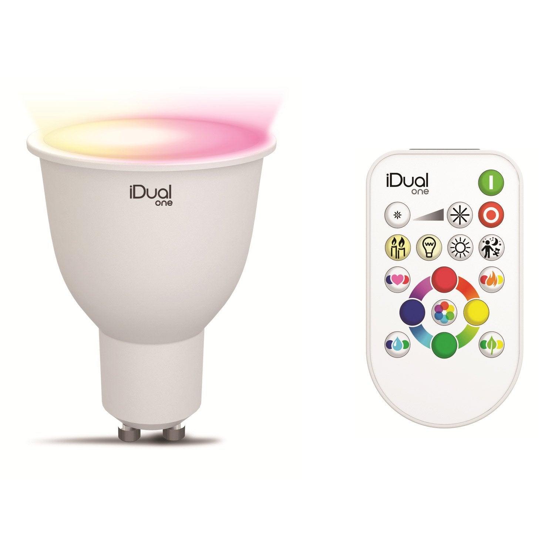 ampoule led pour spot gu10 changement de couleurs. Black Bedroom Furniture Sets. Home Design Ideas