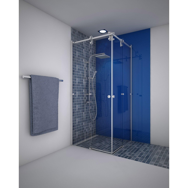 porte de douche coulissante angle carr 90 x 90 cm transparent ellipse2 leroy merlin. Black Bedroom Furniture Sets. Home Design Ideas