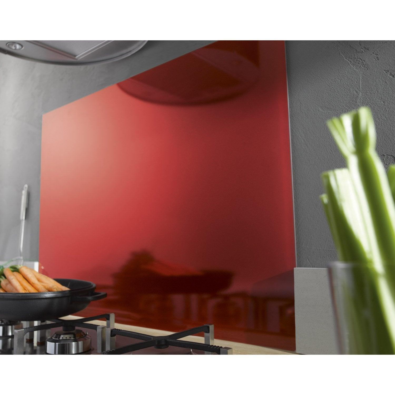 fond de hotte verre delinia rouge mat d lice x. Black Bedroom Furniture Sets. Home Design Ideas