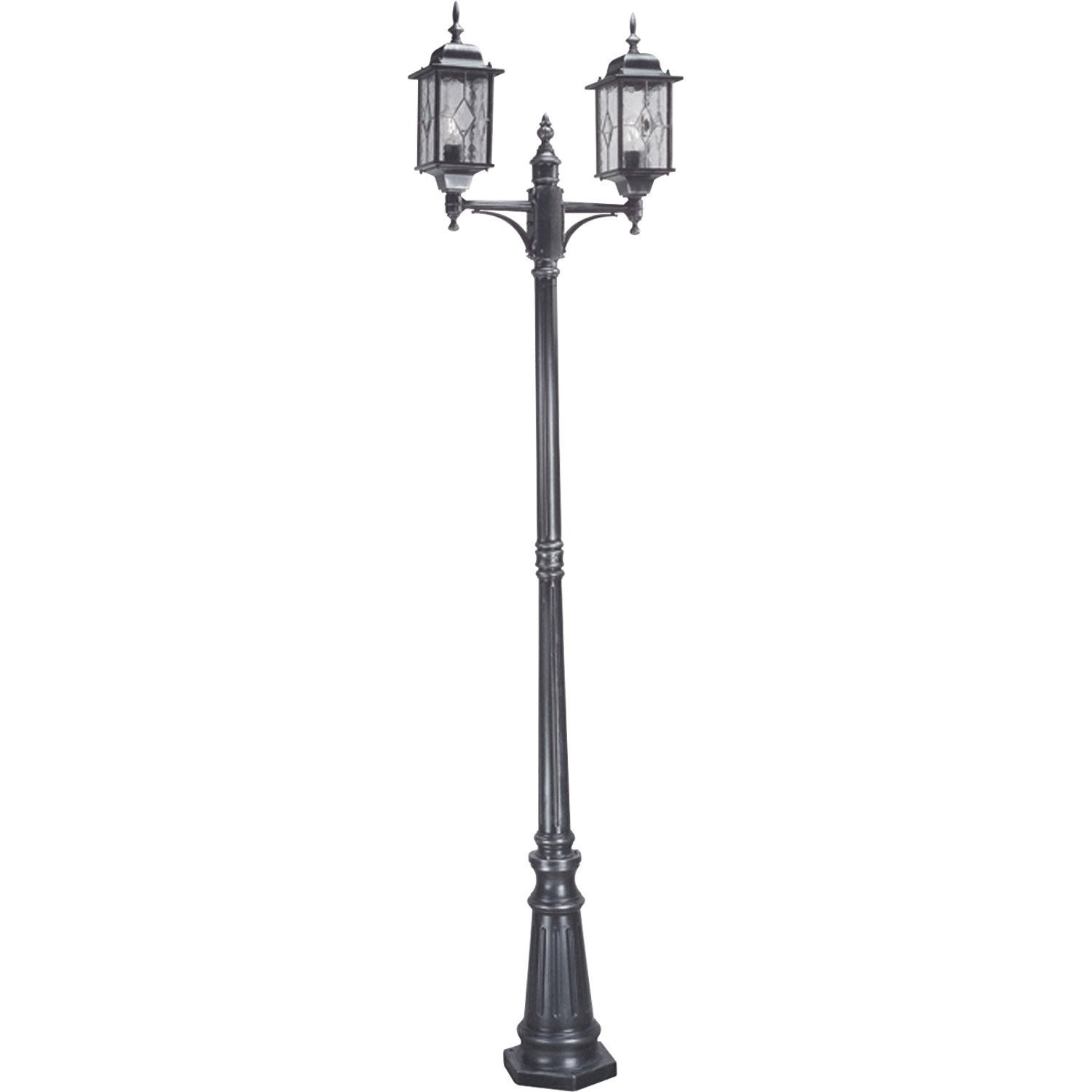 lampadaire ext rieur wexford e27 noir elstead leroy merlin. Black Bedroom Furniture Sets. Home Design Ideas