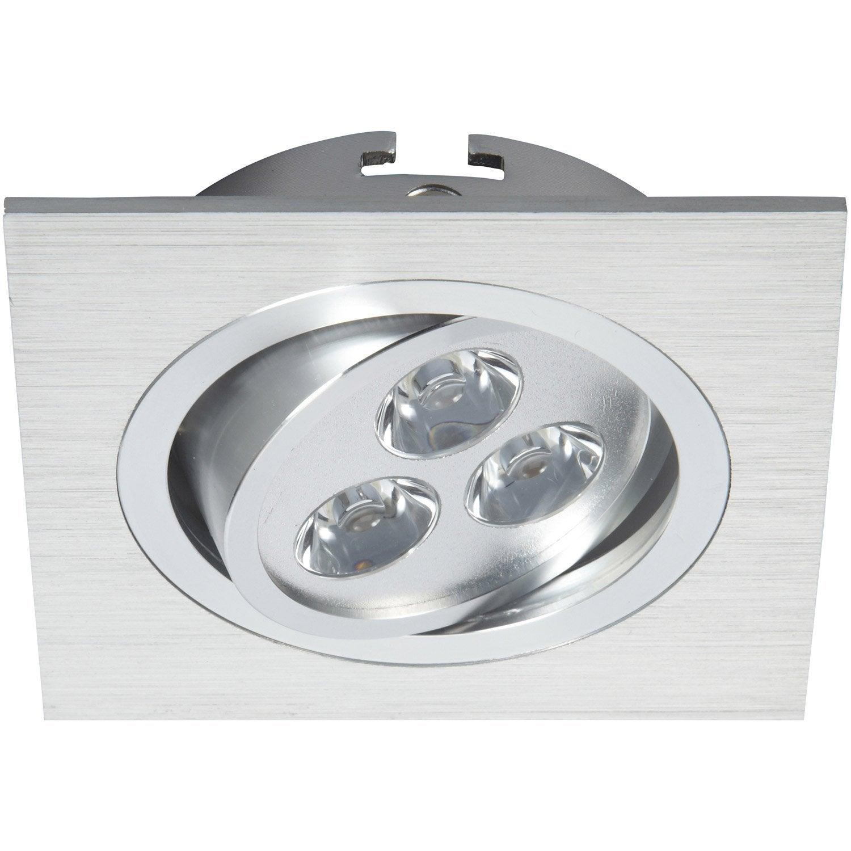 kit 3 spots encastrer aria orientable led paulmann led int gr e aluminium leroy merlin. Black Bedroom Furniture Sets. Home Design Ideas