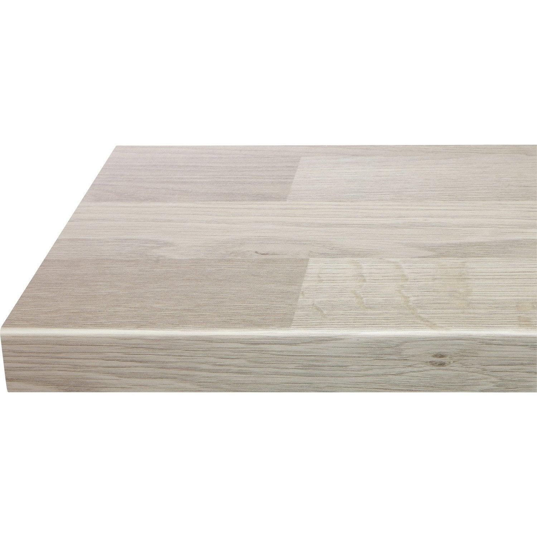 plan de travail droit stratifi ch ne gris clair lamell 315 x 65 cm p 38 mm leroy merlin. Black Bedroom Furniture Sets. Home Design Ideas