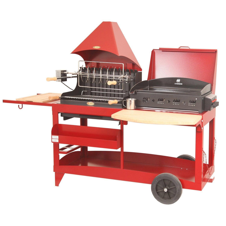 barbecue et plancha au charbon de bois et au gaz lemarquier mendy alde rouge pi leroy merlin. Black Bedroom Furniture Sets. Home Design Ideas
