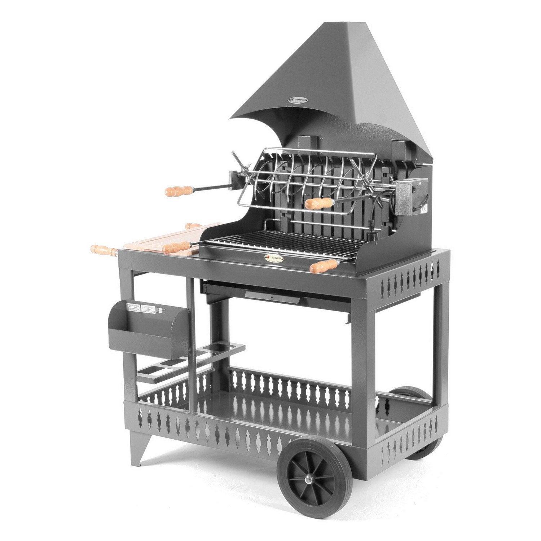 Barbecue Au Charbon De Bois Le Marquier Sur Chariot