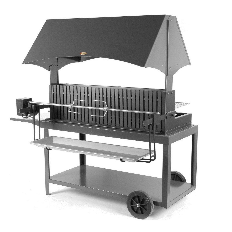 barbecue au charbon de bois lemarquier mechoui gris anthracite leroy merlin. Black Bedroom Furniture Sets. Home Design Ideas