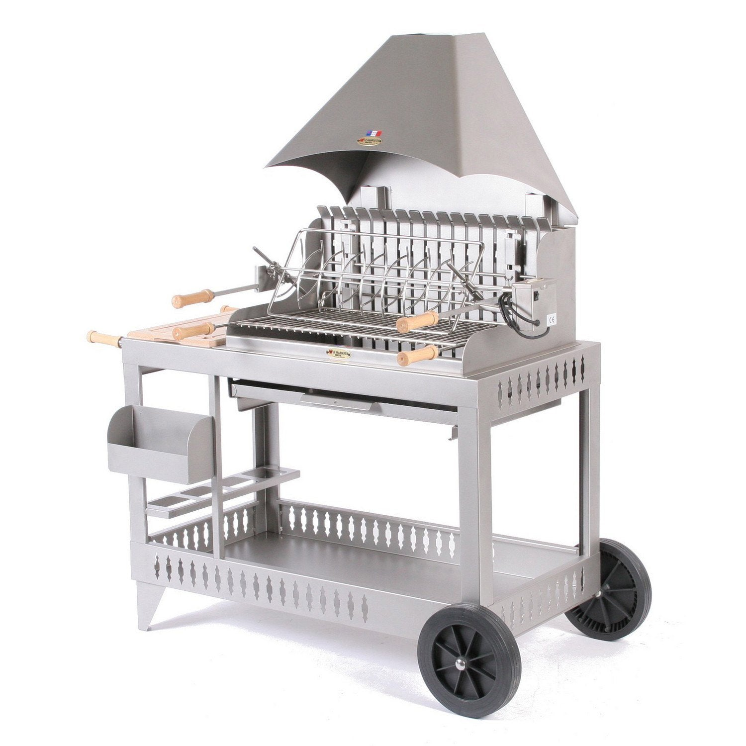 Barbecue au charbon de bois lemarquier isturitz inox for Barbecue le roy merlin