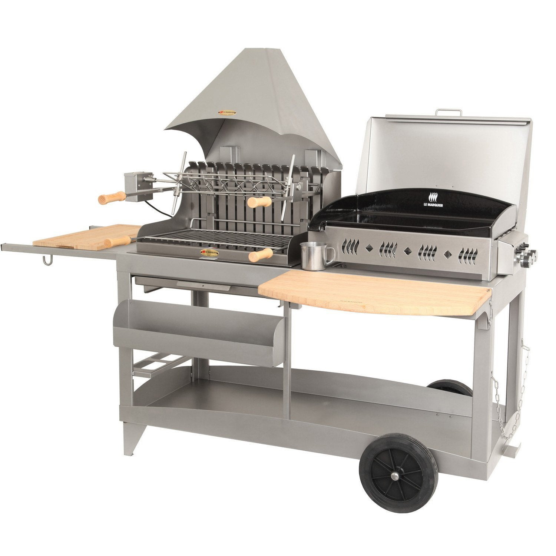 barbecue charbon et plancha