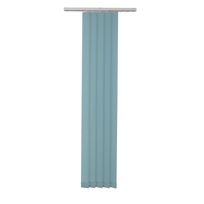 5 lamelles verticales orientables Uni bleu baltique