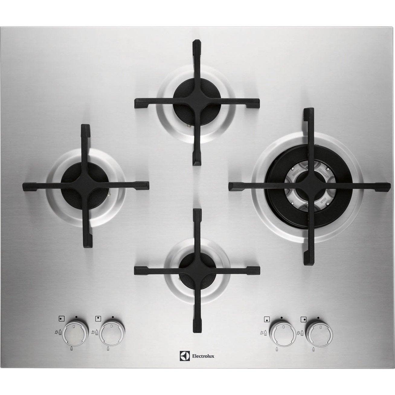 Plaque de cuisson gaz 4 foyers inox electrolux - Table de cuisson gaz blanc ...