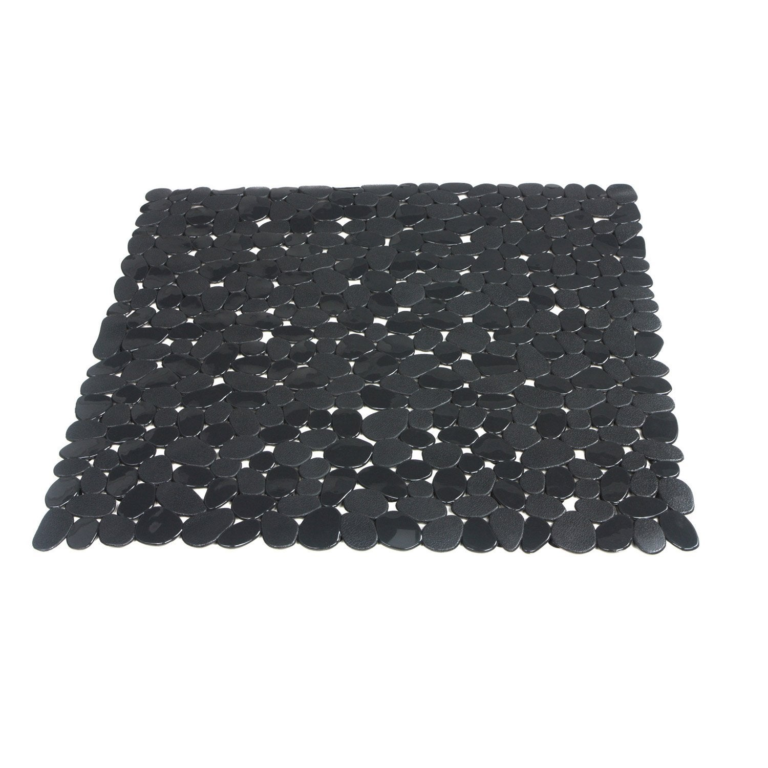 tapis antid rapant gris pour douche stone sensea leroy. Black Bedroom Furniture Sets. Home Design Ideas