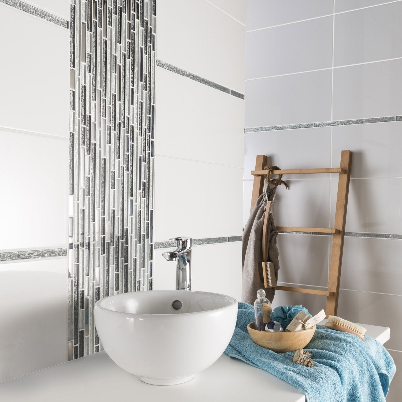 listel fantasy lisse argent l 2 x cm leroy merlin. Black Bedroom Furniture Sets. Home Design Ideas