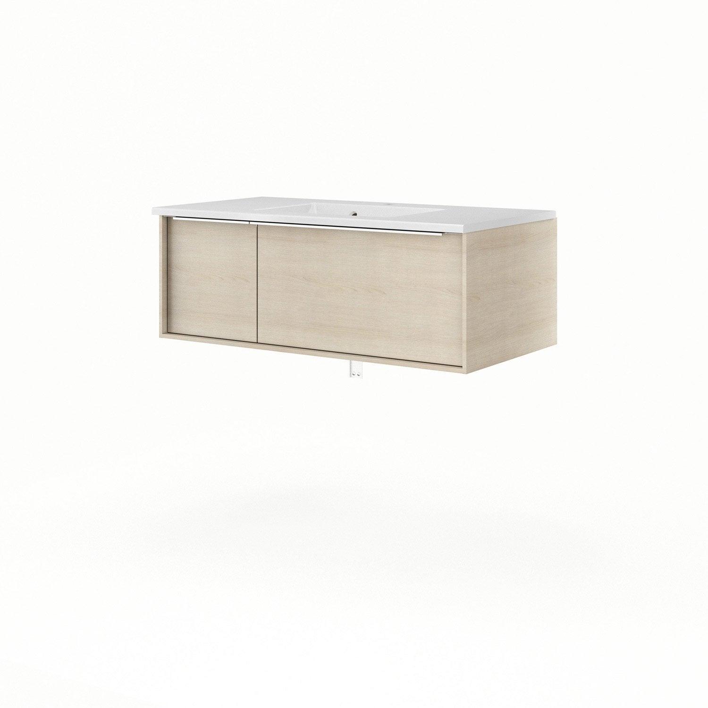 Meuble sous vasque x x cm sensea neo frame - Leroy merlin meuble sous vasque ...