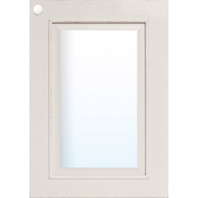 Porte vitr e de cuisine blanc fg40 cosy x cm for Leroy merlin porte interieur vitree