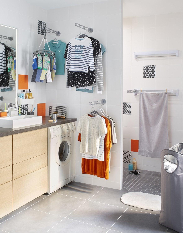 Une buanderie astucieuse leroy merlin - Ikea salle de bain petit espace ...