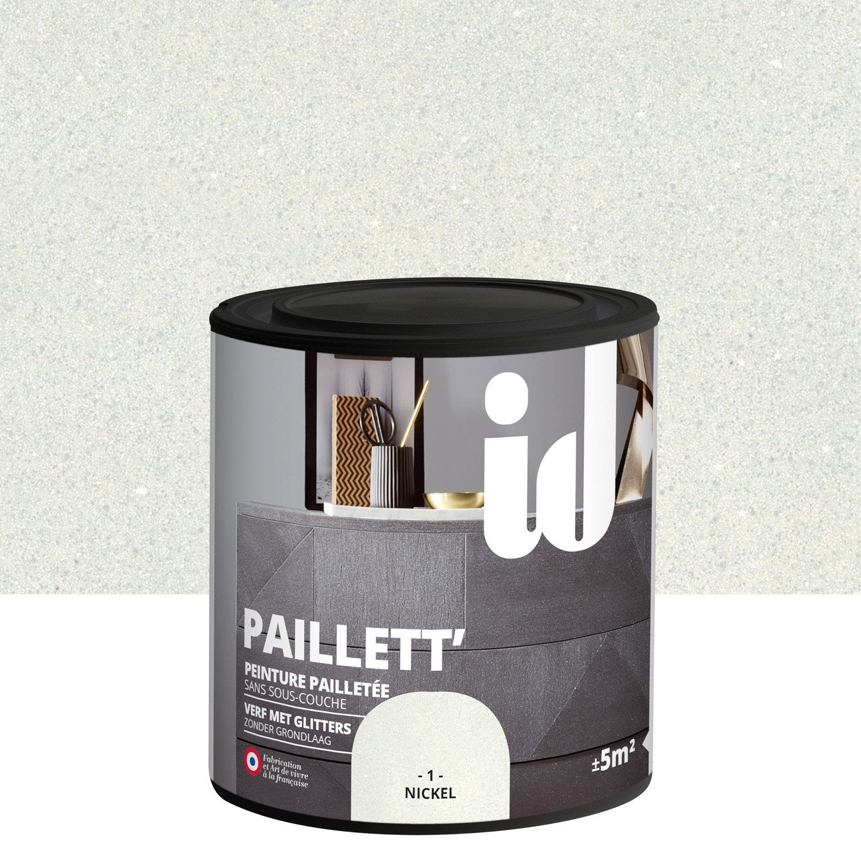peinture pour meuble objet et porte paillet id paillett nickel 0 5 l leroy merlin. Black Bedroom Furniture Sets. Home Design Ideas
