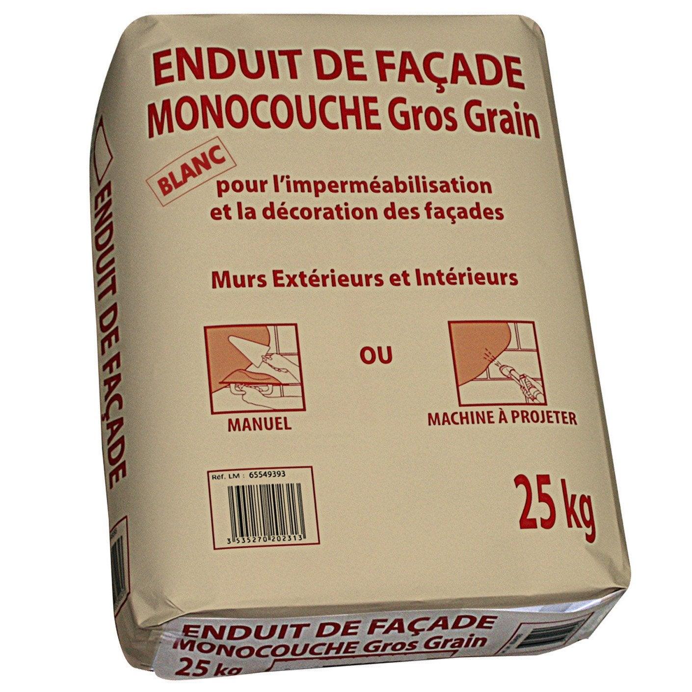 Enduit monocouche blanc prb 25 kg leroy merlin - Crepi monocouche exterieur ...