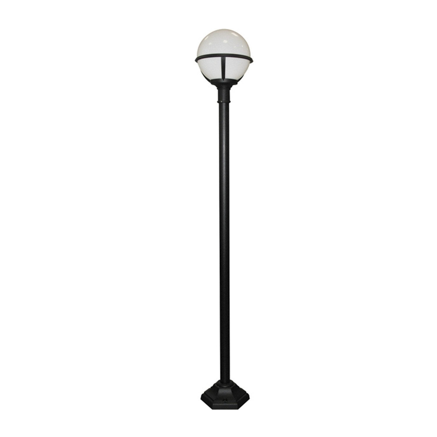 lampadaire ext rieur glenbeigh e27 100 w noir elstead leroy merlin. Black Bedroom Furniture Sets. Home Design Ideas