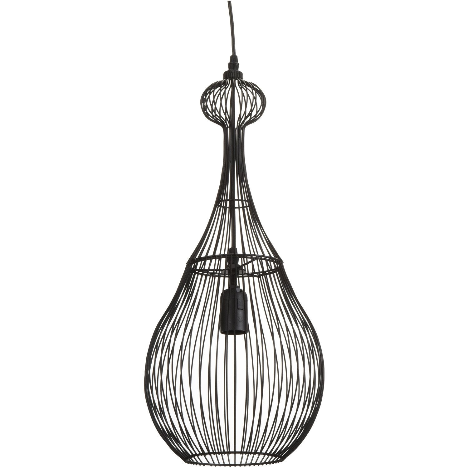 Suspension oriental zagora m tal noir 1 x 40 w seynave - Abat jour suspension leroy merlin ...