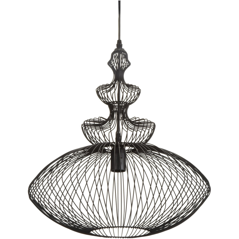 suspension persia seynave noir 60 watts diam 44 cm. Black Bedroom Furniture Sets. Home Design Ideas