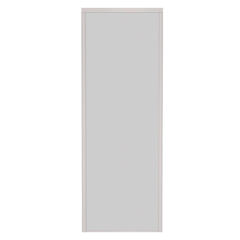 Porte de placard coulissante gris argent spaceo 250x67cm for Porte placard cuisine gris