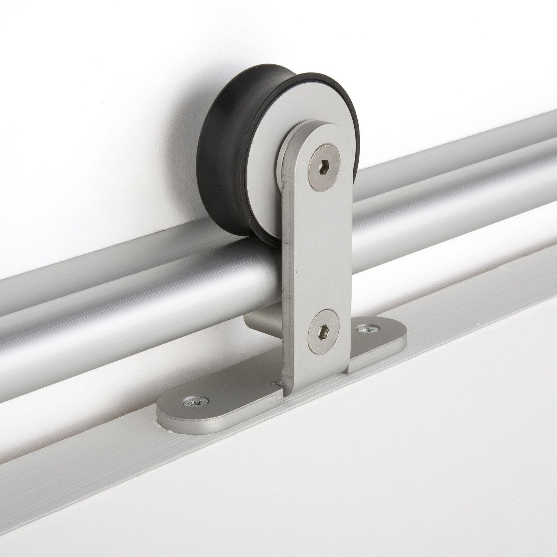 rail coulissant aluminium anodis bolero 2 aluminium 93 cm maxi leroy merlin. Black Bedroom Furniture Sets. Home Design Ideas