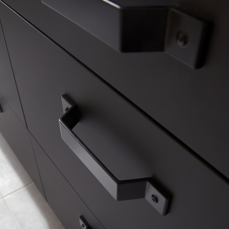 Porte Sous 233 Vier De Cuisine Noir Fs45 Mat Edition L45 X