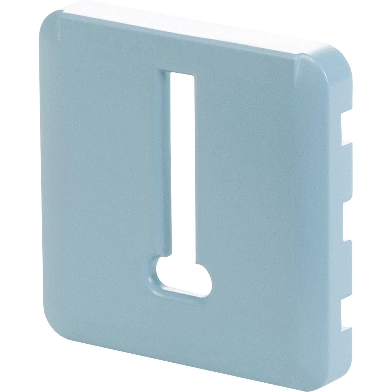 cache pour prise t l phone lexman bleu baltique n 3 leroy merlin. Black Bedroom Furniture Sets. Home Design Ideas