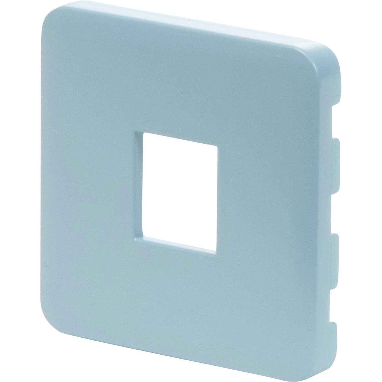 cache prise rj45 prise double chargeur usb cosy lexman bleu baltique n 3 mat leroy merlin. Black Bedroom Furniture Sets. Home Design Ideas