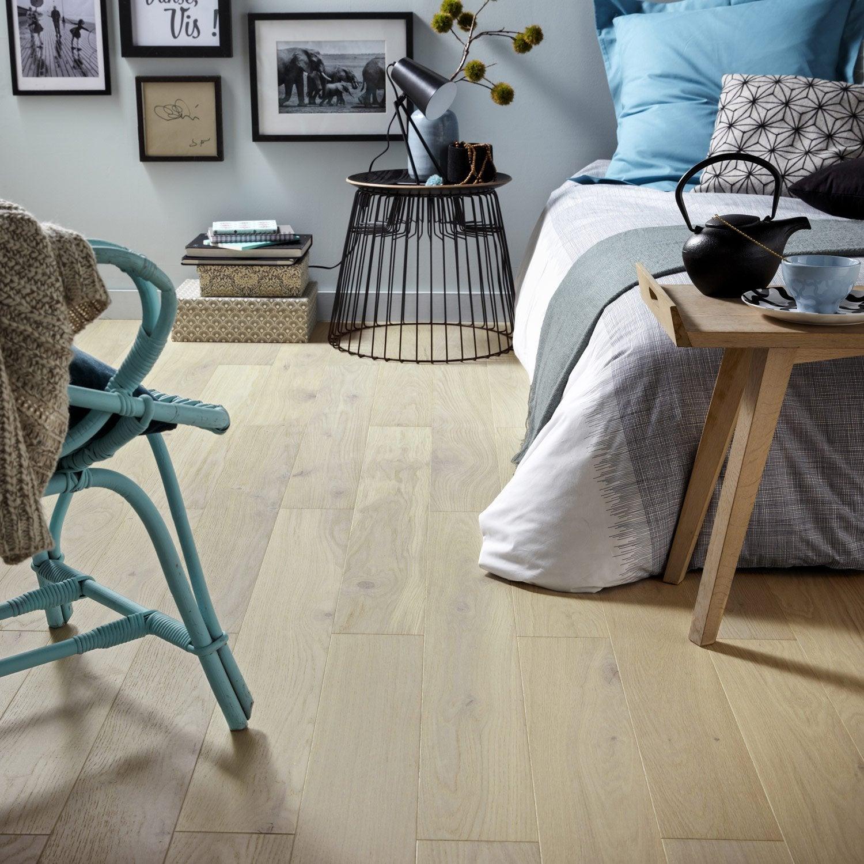 parquet contrecoll ch ne blanchi vitrifi l leroy merlin. Black Bedroom Furniture Sets. Home Design Ideas