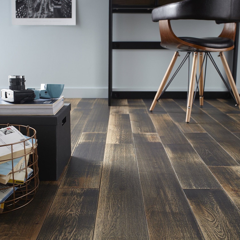 parquet massif ch ne noir vintage huil l artens solid. Black Bedroom Furniture Sets. Home Design Ideas