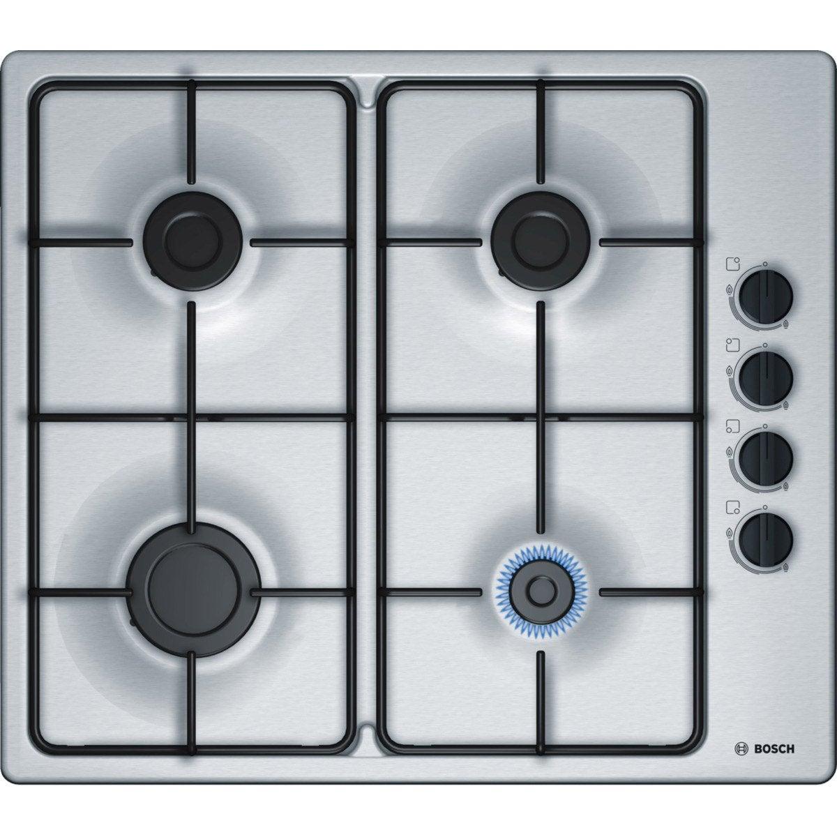 Plaque de cuisson gaz 4 foyers inox bosch pbp6b5b80 - Plaque de cuisson gaz leroy merlin ...