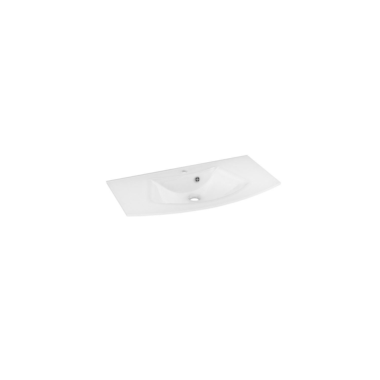 Plan vasque image verre 91 cm leroy merlin for Leroy merlin plan vasque
