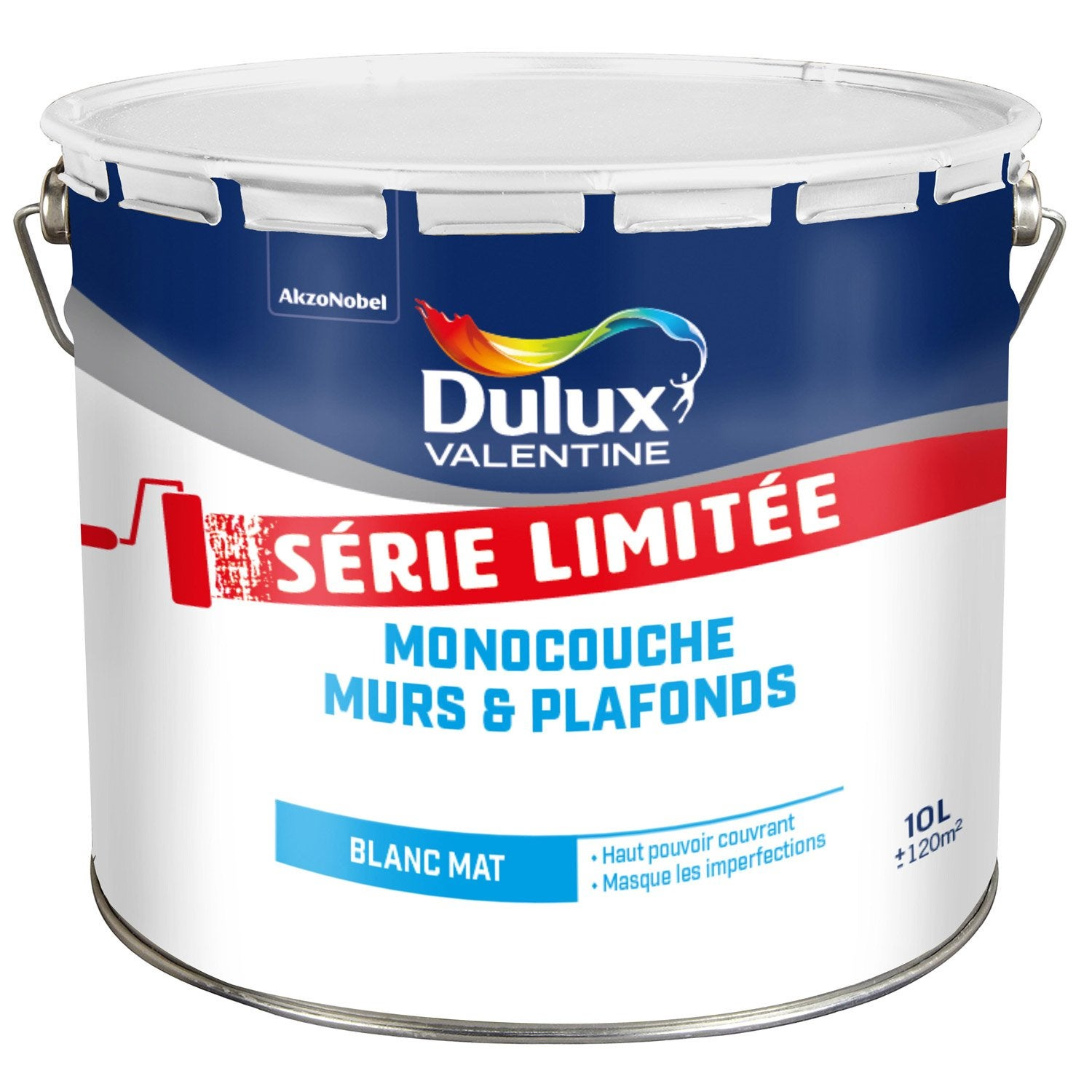 peinture blanche mur et plafond dulux valentine mat 10 l leroy merlin. Black Bedroom Furniture Sets. Home Design Ideas