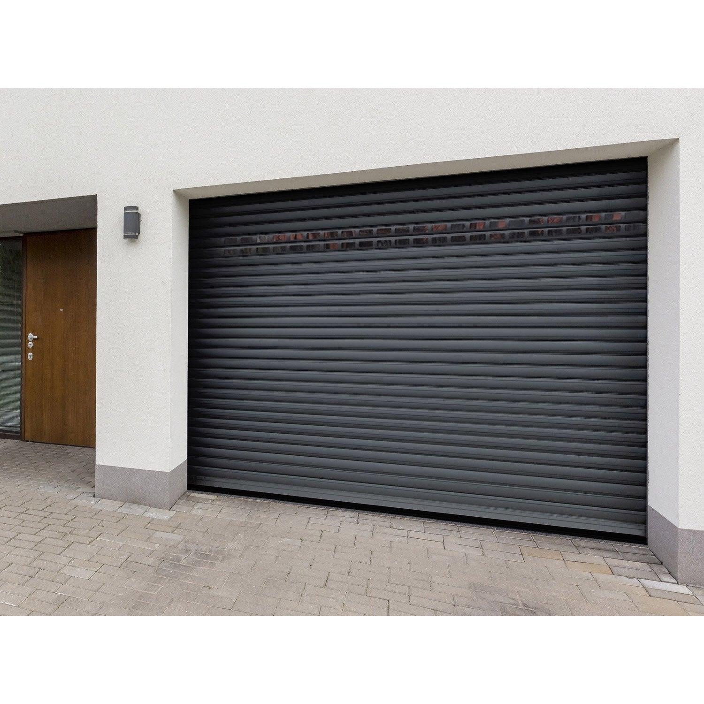 Porte de garage coulissante motoris e leroy for Leroy merlin porte garage sectionnelle