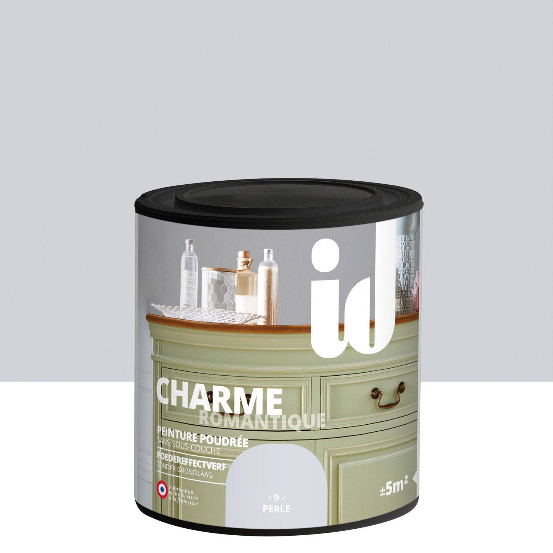 peinture pour meuble objet et porte poudr id charme perle 0 5 l leroy merlin. Black Bedroom Furniture Sets. Home Design Ideas