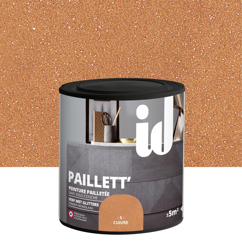 peinture pour meuble objet et porte paillet id paillett cuivre 0 5 l leroy merlin. Black Bedroom Furniture Sets. Home Design Ideas